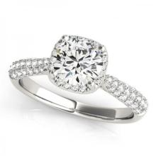 CERTIFIED PLATINUM 1.15 CT G-H/VS-SI1 DIAMOND HALO ENGAGEMENT RING #PAPPS86157
