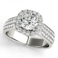 CERTIFIED PLATINUM 1.40 CT G-H/VS-SI1 DIAMOND HALO ENGAGEMENT RING #PAPPS86170
