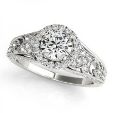 CERTIFIED PLATINUM 1.31 CT G-H/VS-SI1 DIAMOND HALO ENGAGEMENT RING #PAPPS86163