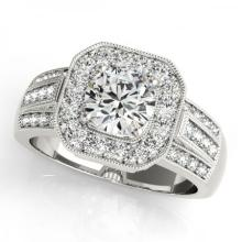 CERTIFIED PLATINUM 1.20 CT G-H/VS-SI1 DIAMOND HALO ENGAGEMENT RING #PAPPS86159