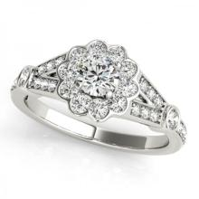CERTIFIED PLATINUM 1.54 CT G-H/VS-SI1 DIAMOND HALO ENGAGEMENT RING #PAPPS86183