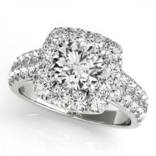 CERTIFIED PLATINUM 1.48 CT G-H/VS-SI1 DIAMOND HALO ENGAGEMENT RING #PAPPS86174