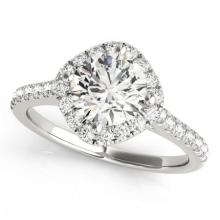CERTIFIED PLATINUM 1.55 CT G-H/VS-SI1 DIAMOND HALO ENGAGEMENT RING #PAPPS86150