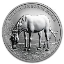 2016 Australia 1 oz Silver Stock Horse BU #31048v3