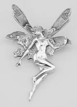 Large Art Nouveau Style Fairy Pin - Sterling Silver #PAPPS97853