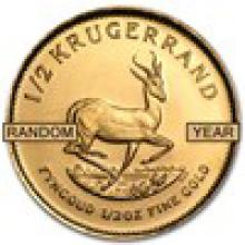 South Africa 1/2 oz Gold Krugerrand (Random Year) #PAPPS93267