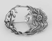 Art Nouveau Style Pin - Sterling Silver #PAPPS97852