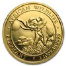 2016 Somalia 1/10 oz Gold African Elephant BU #PAPPS93299