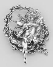 Cupid / Cherub Pin or Brooch or Pendant - Sterling Silver #PAPPS97851