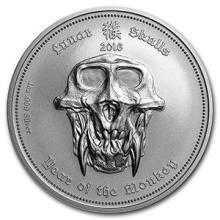 2016 Palau 1 oz Silver Lunar Skulls Year of the Monkey (Capsule) #74606v3
