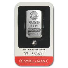 1 oz Platinum Bar - Engelhard (In Assay) #75648v3