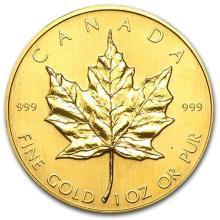 1982 Canada 1 oz Gold Maple Leaf BU #75446v3