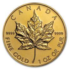 Canada 1 oz Gold Maple Leaf .9999 Fine (Random Year) #75413v3