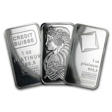 1 oz Platinum Bar - Secondary Market (.999+ Fine) ONE PIECE PER LOT #75642v3
