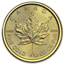 2016 Canada 1/4 oz Gold Maple Leaf BU #75417v3