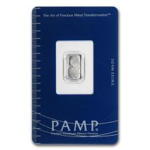 1 gram Platinum Bar - PAMP Suisse (In Assay) #75644v3