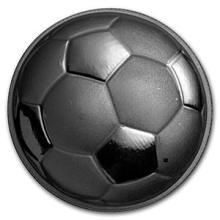 1 oz Silver Round - Domed Soccer Ball #74563v3
