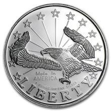 1 oz Silver Round - Liberty Eagle #74468v3