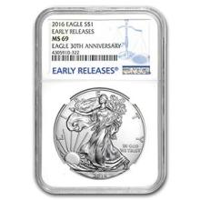 2016 Silver American Eagle MS-69 NGC (Early Releases) #74900v3