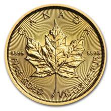 2016 Canada 1/10 oz Gold Maple Leaf BU #75415v3