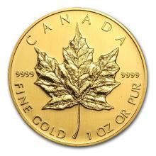 2005 Canada 1 oz Gold Maple Leaf BU #75465v3