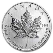 Canada 1 oz Platinum Maple Leaf BU (Random Year) #75633v3
