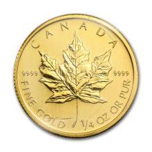2009 Canada 1/4 oz Gold Maple Leaf BU #75452v3