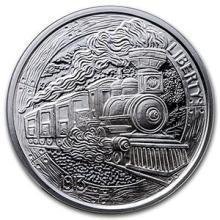 1 oz Silver Round - Hobo Nickel Replica (The Train) #74523v3
