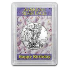 2016 1 oz Silver Eagle BU (Happy Birthday, Harris Holder) #74953v3