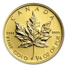 Canada 1/4 oz Gold Maple Leaf (Random Year) #75418v3