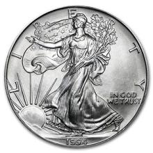 1994 1 oz Silver American Eagle BU #74909v3