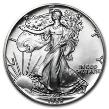 1989 1 oz Silver American Eagle BU #74902v3