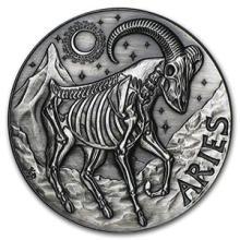1 oz Silver Round Aries - Zodiac Series #74601v3