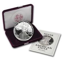 1991-S 1 oz Proof Silver American Eagle (w/Box & COA) #74973v3