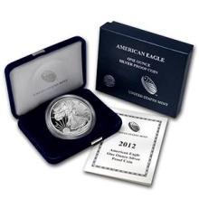 2012-W 1 oz Proof Silver American Eagle (w/Box & COA) #74974v3