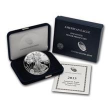 2013-W 1 oz Proof Silver American Eagle (w/Box & COA) #74985v3