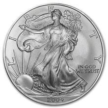 2004 1 oz Silver American Eagle BU #74892v3