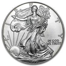 1999 1 oz Silver American Eagle BU #74905v3