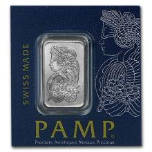 1 gram Platinum Bar - Multigram+25 PAMP Suisse (In Assay) #75646v3
