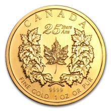 2004 Canada 1 oz Gold Maple Leaf BU (25th Anniversary) #75467v3