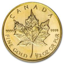 2008 Canada 1/2 oz Gold Maple Leaf BU #75460v3