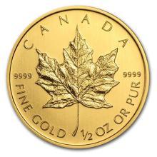 2013 Canada 1/2 oz Gold Maple Leaf BU #75471v3