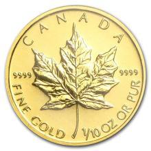 2010 Canada 1/10 oz Gold Maple Leaf BU #75455v3
