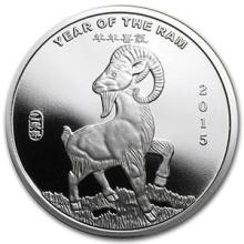 1/2 oz Silver Round - (2015 Year of the Ram) #74515v3