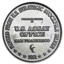 1 oz Silver Round - U.S. Assay Office #74514v3