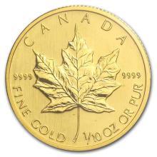2008 Canada 1/10 oz Gold Maple Leaf BU #75462v3