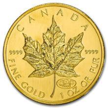 2000 Canada 1 oz Gold Maple Leaf Fireworks Privy BU #75444v3
