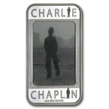 2014 1 oz Silver Charlie Chaplin 100 Years of Laughter Rect Coin #74870v3