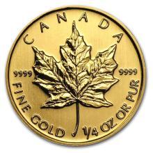 2013 Canada 1/4 oz Gold Maple Leaf BU #75472v3