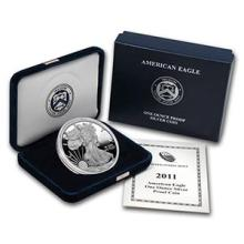 2011-W 1 oz Proof Silver American Eagle (w/Box & COA) #74984v3